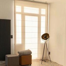 lichtdoorlatende vouwgordijnen op maat online. Black Bedroom Furniture Sets. Home Design Ideas